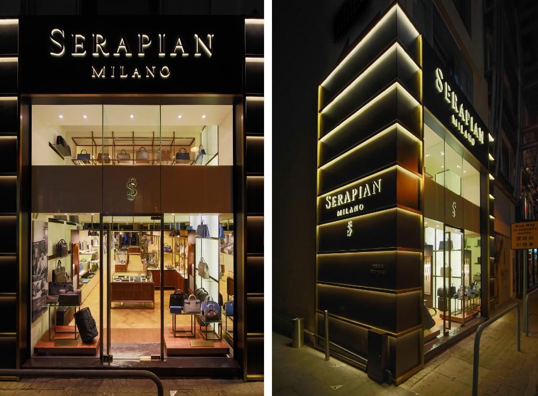 Boutique serapian laboratorio 83 for Store design milano